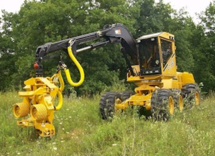 Rubber Tire Tree Harvesting Machine
