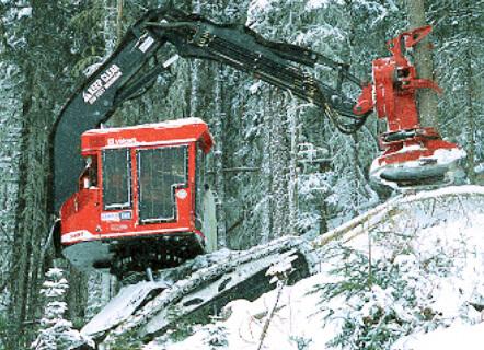 Track Driven Tree Harvesting Machine