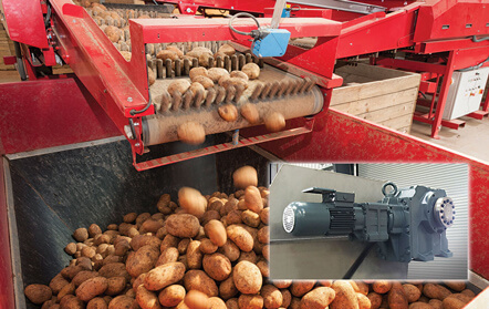 Bauer Custom Model BK80 Geared Motors for Potato Bin Dumper
