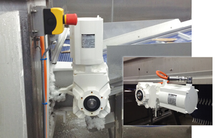 Fish Processing Lines  with AspecticDrive with PMSMs (Bauer Gear Motor)