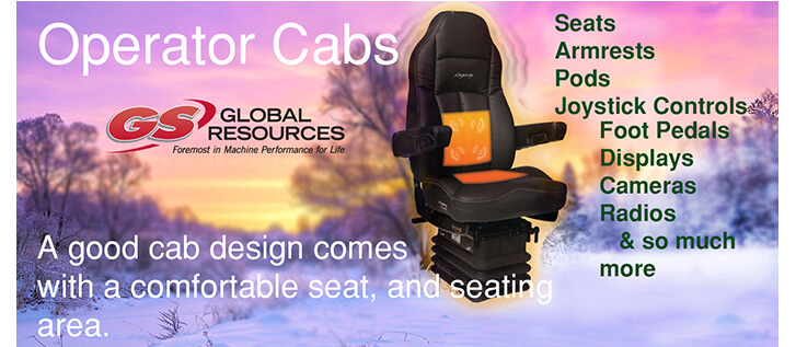 GS Global Resources Operator Cabs Seats