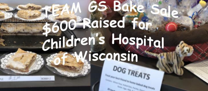 Team GS Bake Sale For Children's Hospital of Wisconsin Raises $600