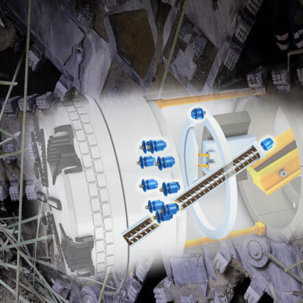 Tunnel Boring Machine (Poclain Hydraulics)